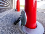 removable-security-bollards-red-weather-proof-padlock-auckland-xpanda